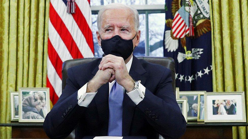 Joe Biden en el Despacho Oval