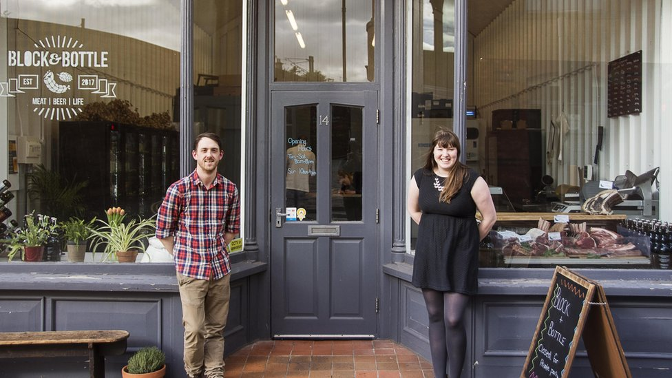Block and Bottle owners, Katie and Steven