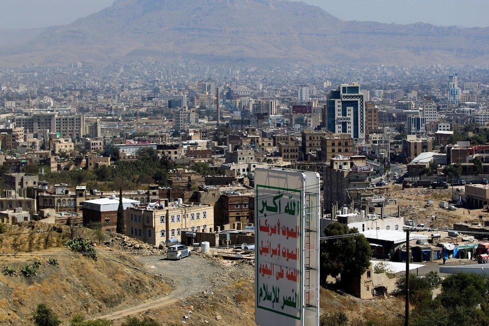 General view of Sanaa on 3 December 2017
