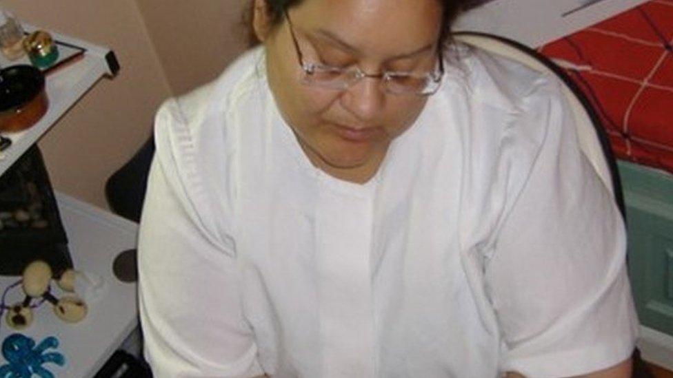 Maribel Milligan working as a masseuse