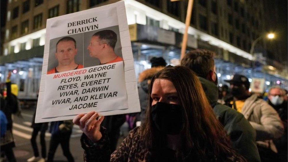 Una protesta por el caso Floyd en Nueva York