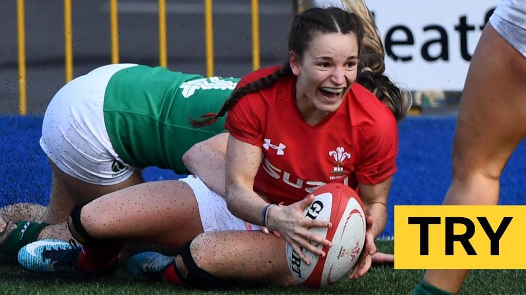 Women's Six Nations: Jasmine Joyce scores sensational try for Wales against Ireland