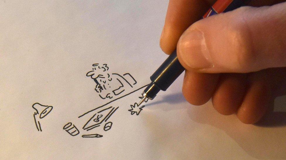 Cartoonist Matt 'turning into own character'