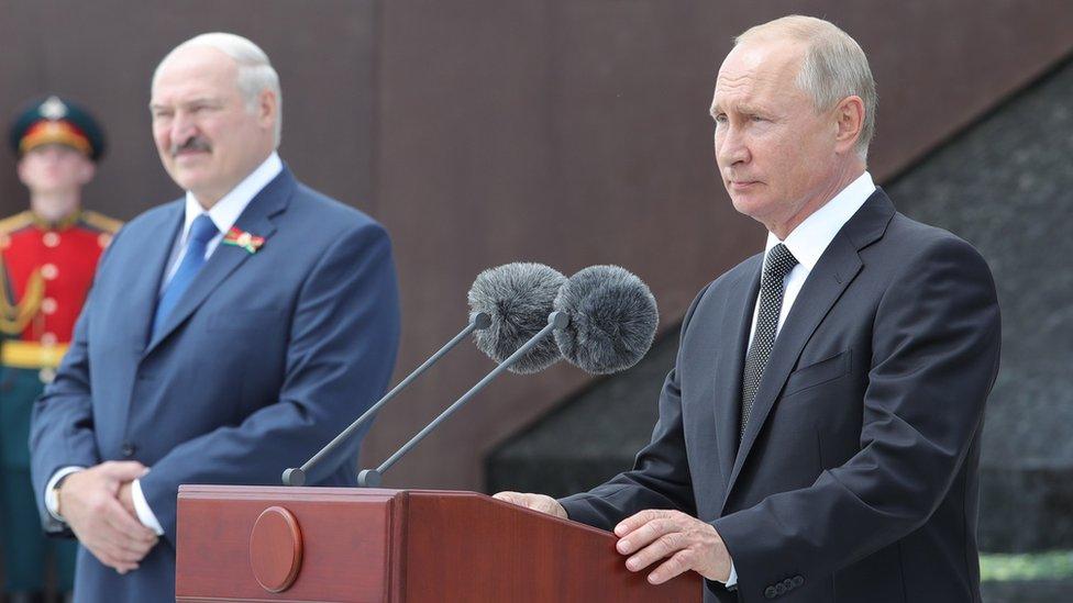 Putin i Lukašenko, 30. jun 2020.