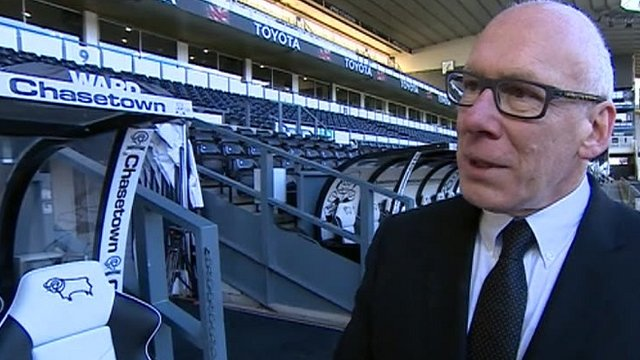 Derby County chairman Mel Morris