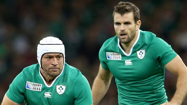 Rory Best and Jared Payne in action for Ireland
