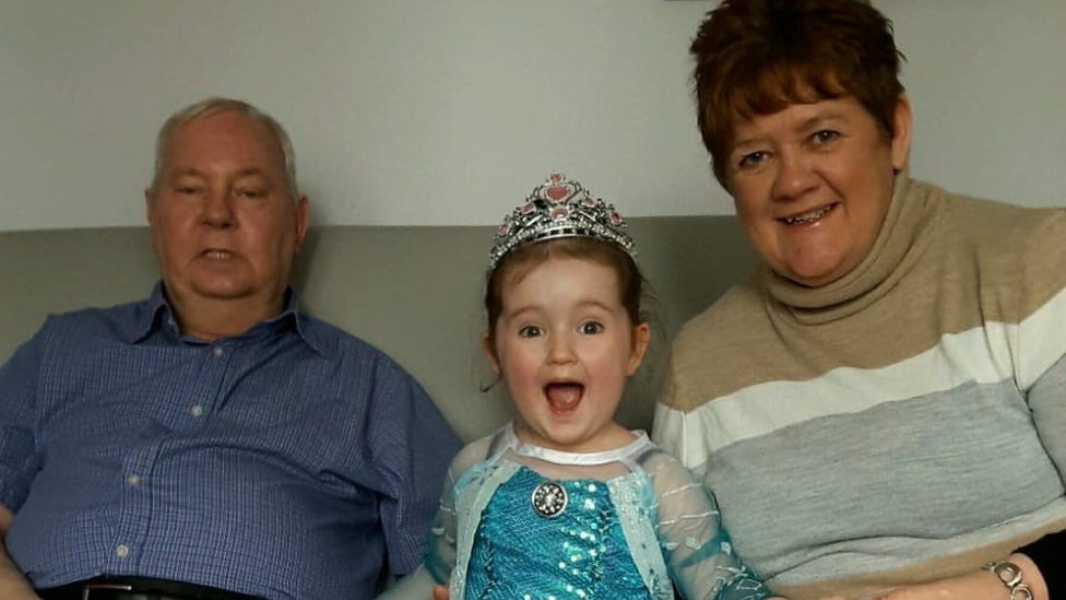 Archive photo of John Duffy with his family