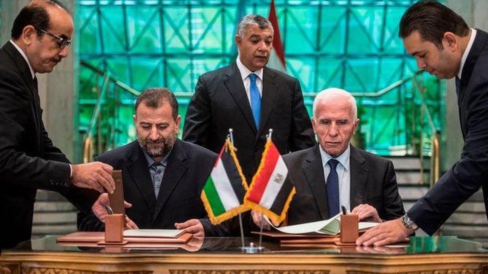 قادة الفصائل الفلسطينية في محادثات مصالحة بوساطة مصرية