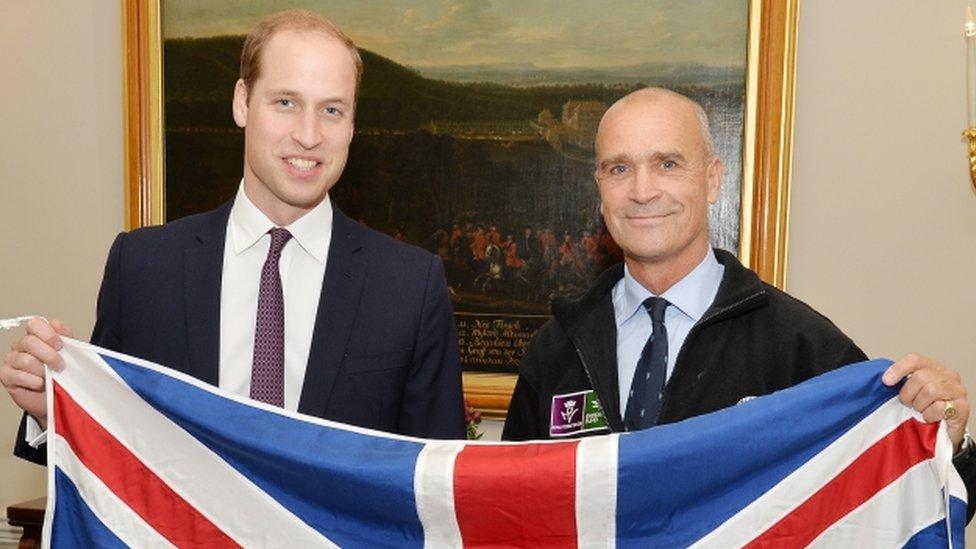 The Duke of Cambridge and Henry Worsley