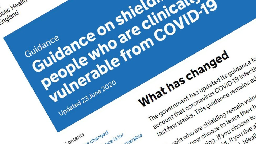 Covid-19 shielding information