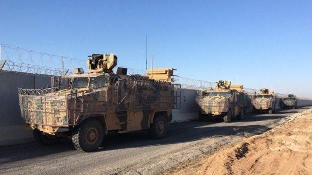 土耳其與俄國軍隊在敘利亞北部邊界