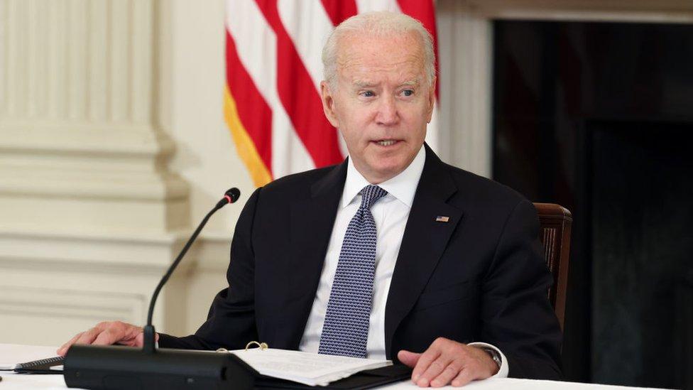 Joe Biden en la reunión de este viernes en la Casa Blanca
