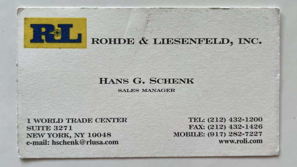 Hans Gernot Schenk Business Card