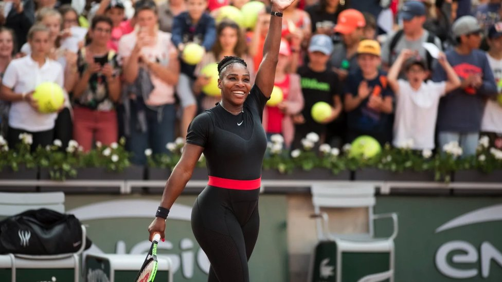 Serena Williams en el Abierto de Francia en 2018 .