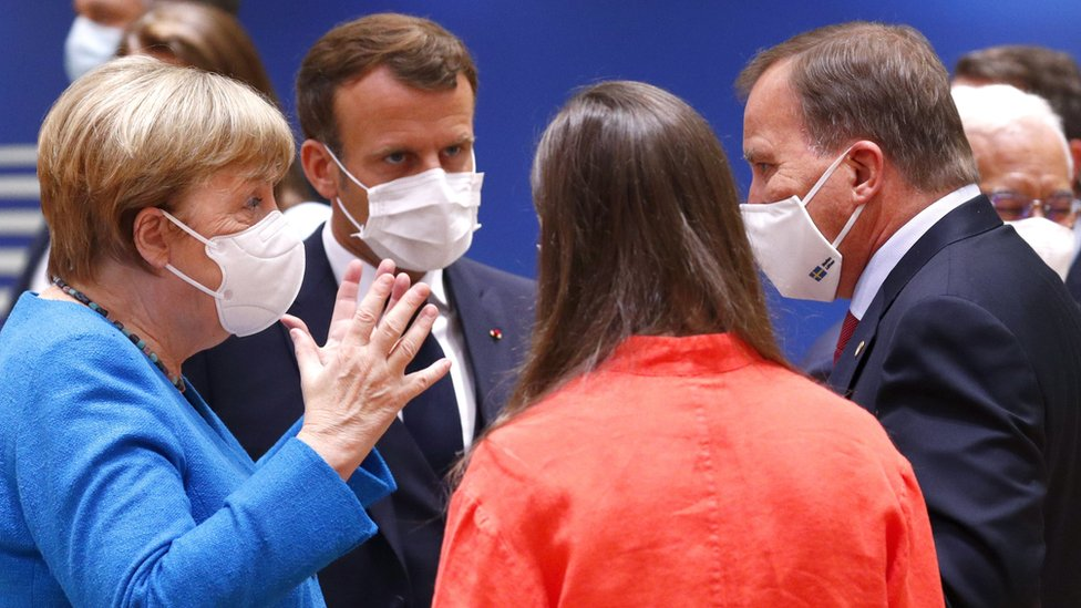 Coronavirus: Hopes rise for EU recovery deal at marathon summit - BBC News