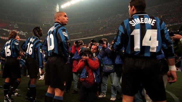 Diego Simeone y Ronaldo