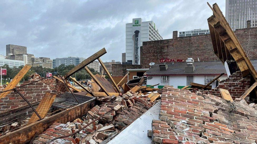 Tienda destruida en Luisiana