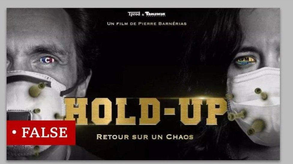 ملصق فيلم وثائقي الفرنسي يروج مزاعم خاطئة عن فيروس كورونا