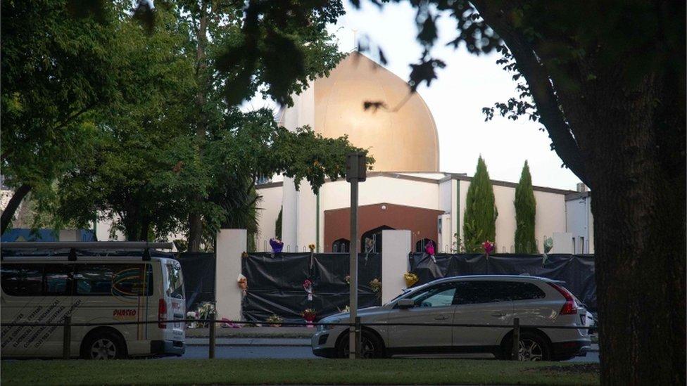 Mezquita atacada en Nueva Zelanda.