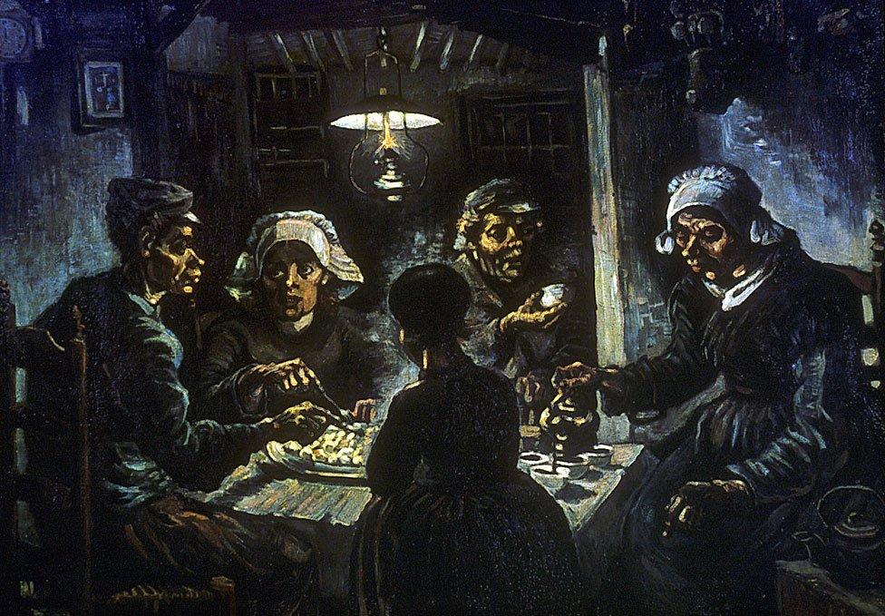 """""""Comedores de papás"""", por Vincent van Gogh en 1885"""