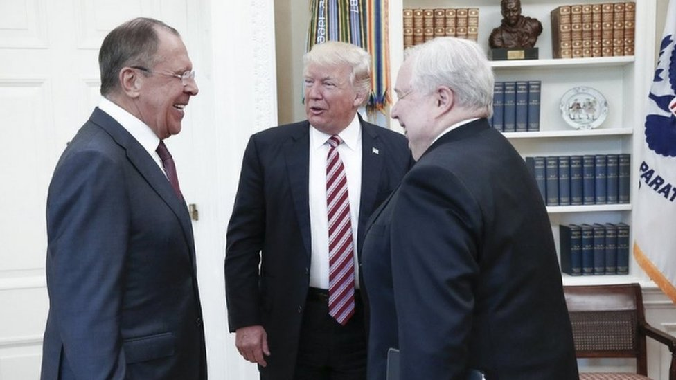 Trump and Russian delegation