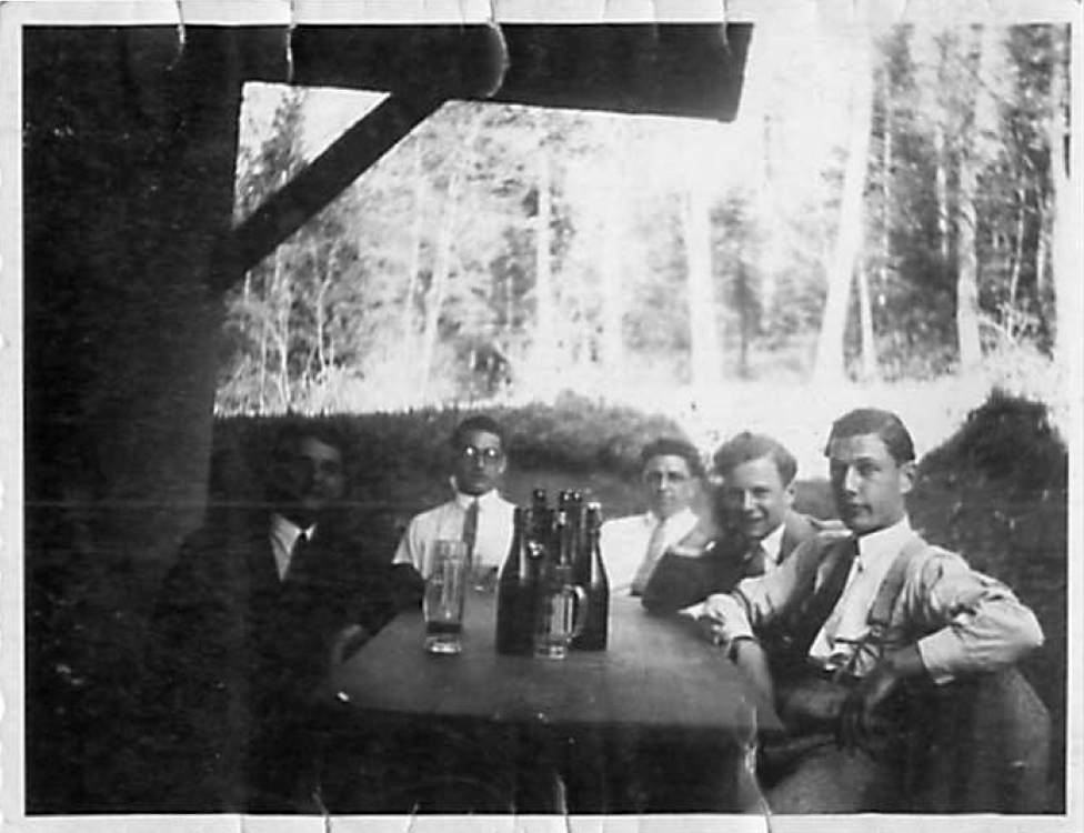 The Gunzenhausen beer garden before the pogrom