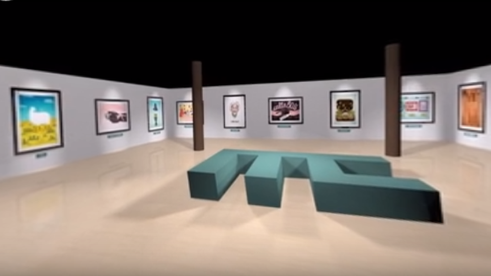 A view of the virtual gallery