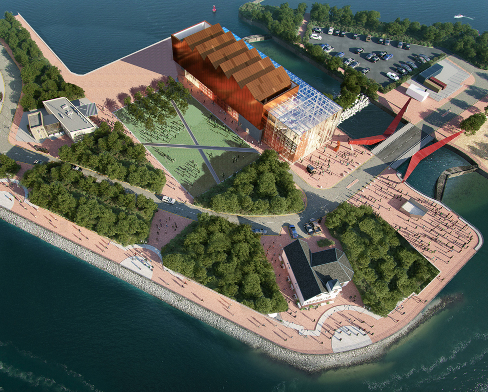 The museum would be on land near the Norwegian Church in Cardiff Bay