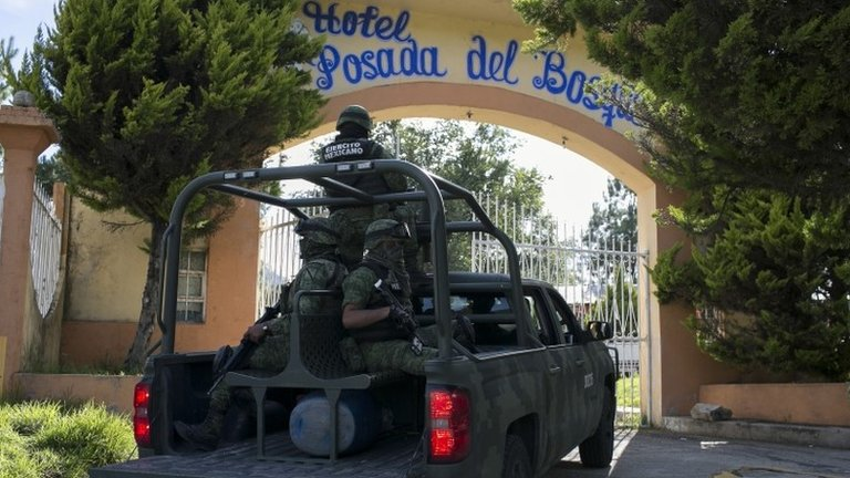 Mexico town's entire police force detained after murder