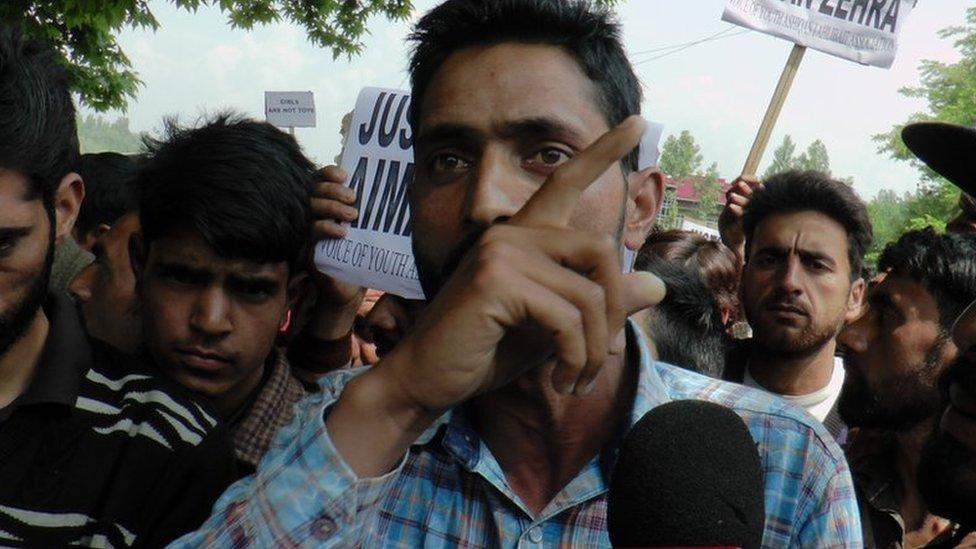 बांदीपुरा: तीन साल की बच्ची के साथ कथित रेप के विरोध में ज़ोरदार प्रदर्शन