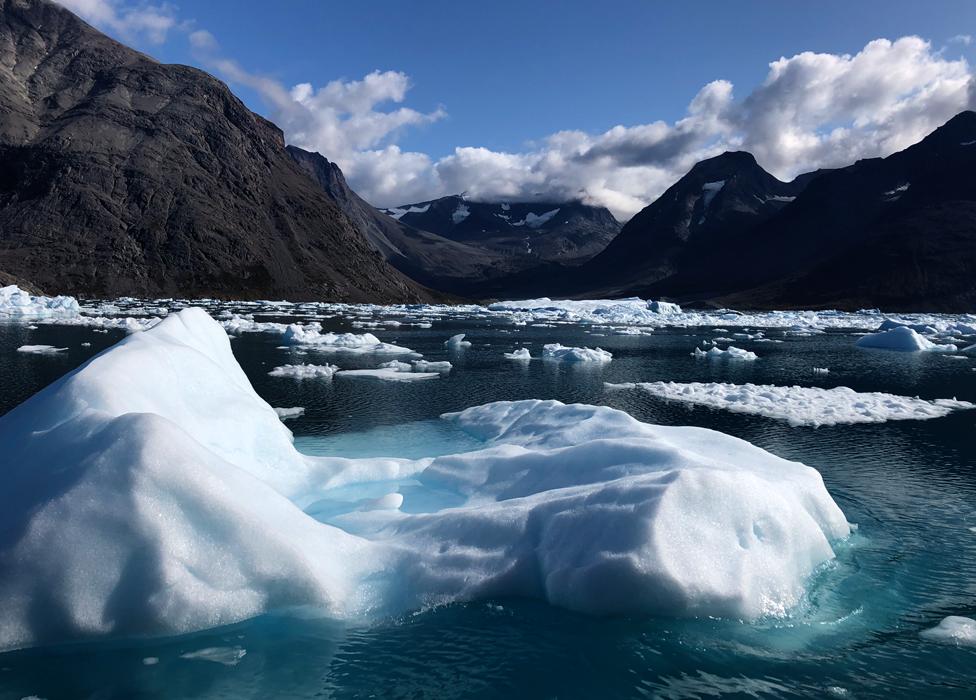 La imagen muestra el derretimiento del hielo.