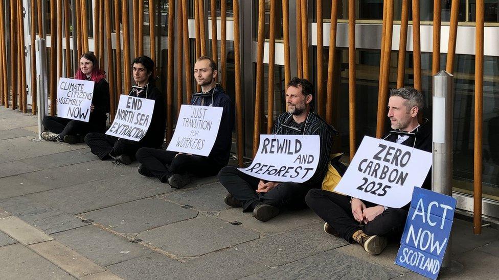 Holyrood protestors