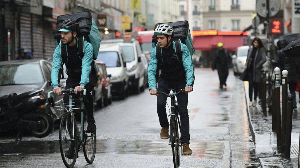 Deliveroo bikers