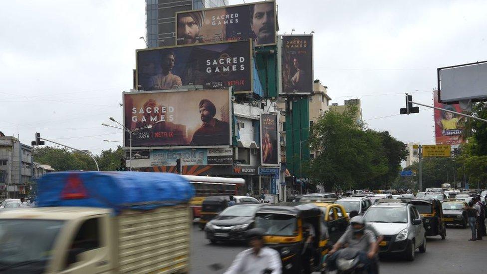 Hindistan'da Netflix bilboardları.