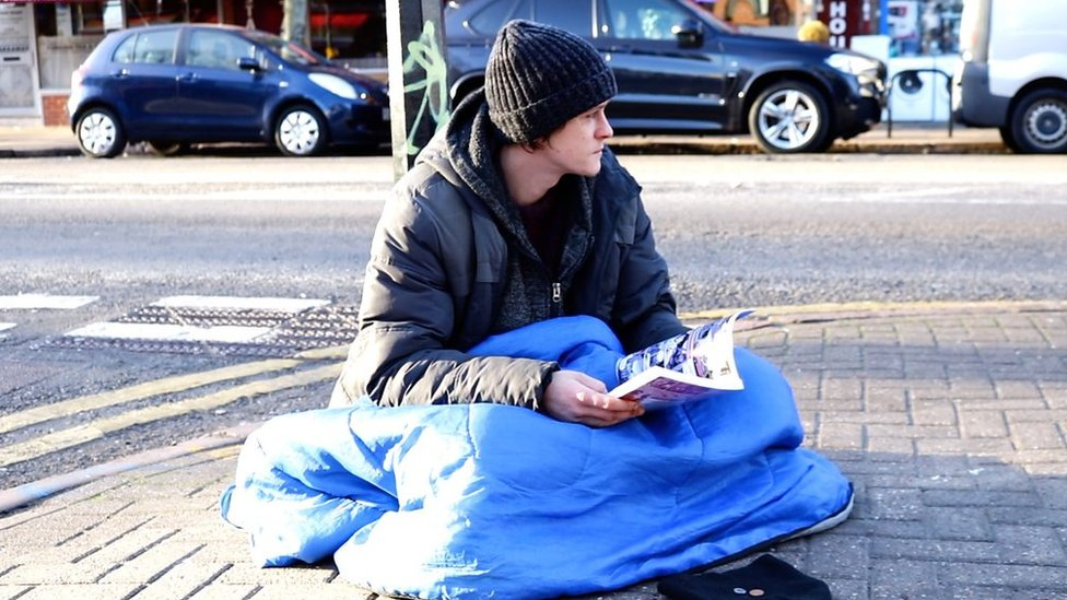 Books send homeless man 'into a different world'