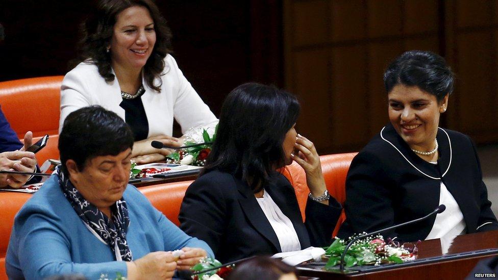 HDP parliamentarians in Ankara (June 2015)