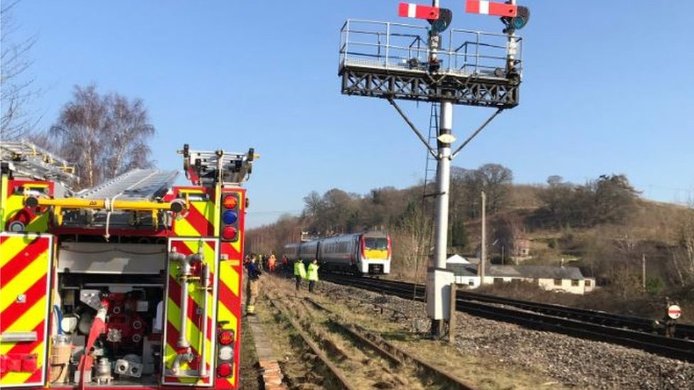 Eighty evacuated over train fire reports