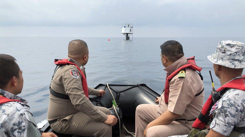 Un bote de la Marina de Tailandia.