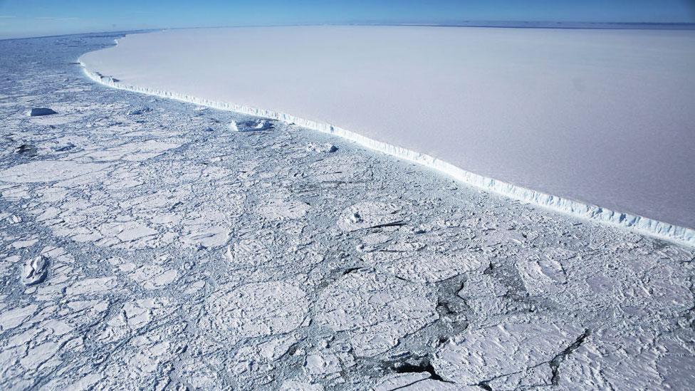 Borde del iceberg A68