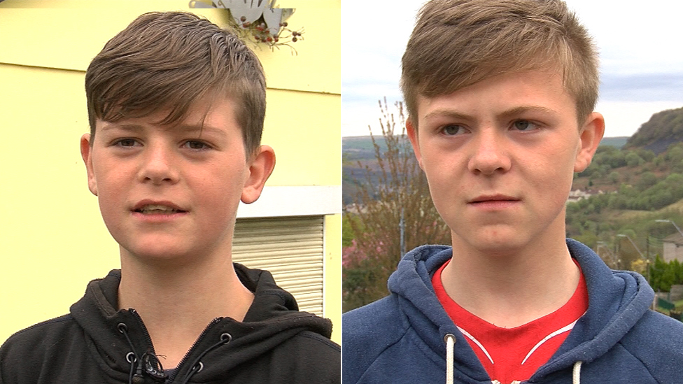 Iestyn (left) and Ieuan (right) used to attend youth sessions at Perthcelyn Community Centre