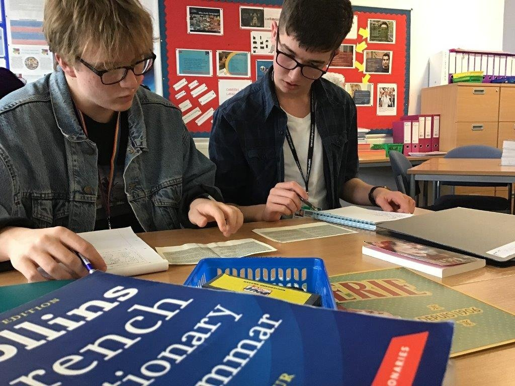 Sixth Formers at Carmel College can still study French, but not German
