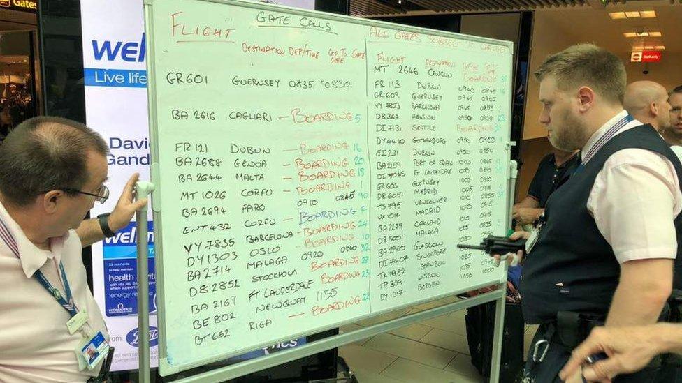 Gatwick whiteboard chaos