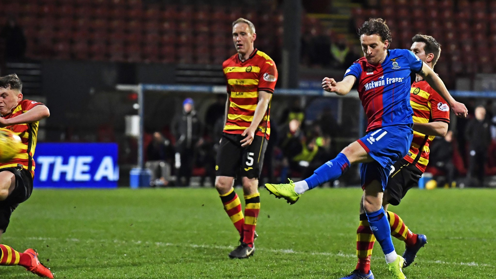 Inverness' Tom Walsh volleys home terrific winner against Partick Thistle