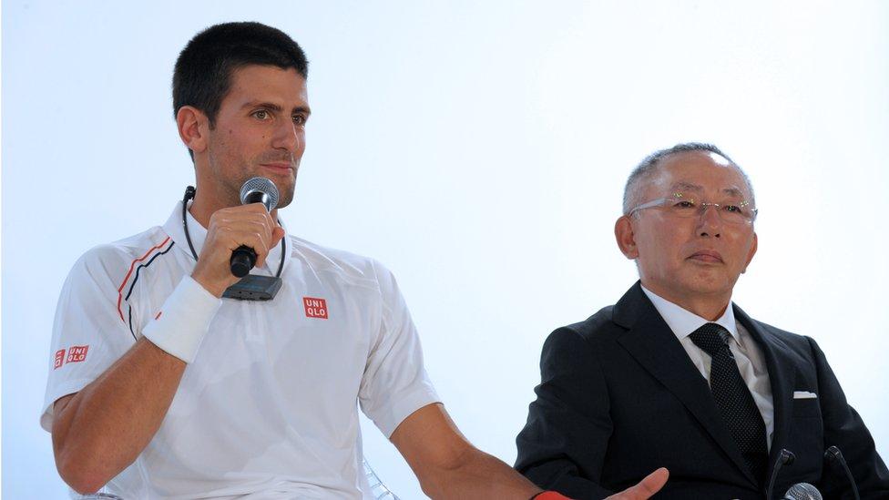 Figuras como Novak Djokovic han sido parte de sus campañas publicitarias.