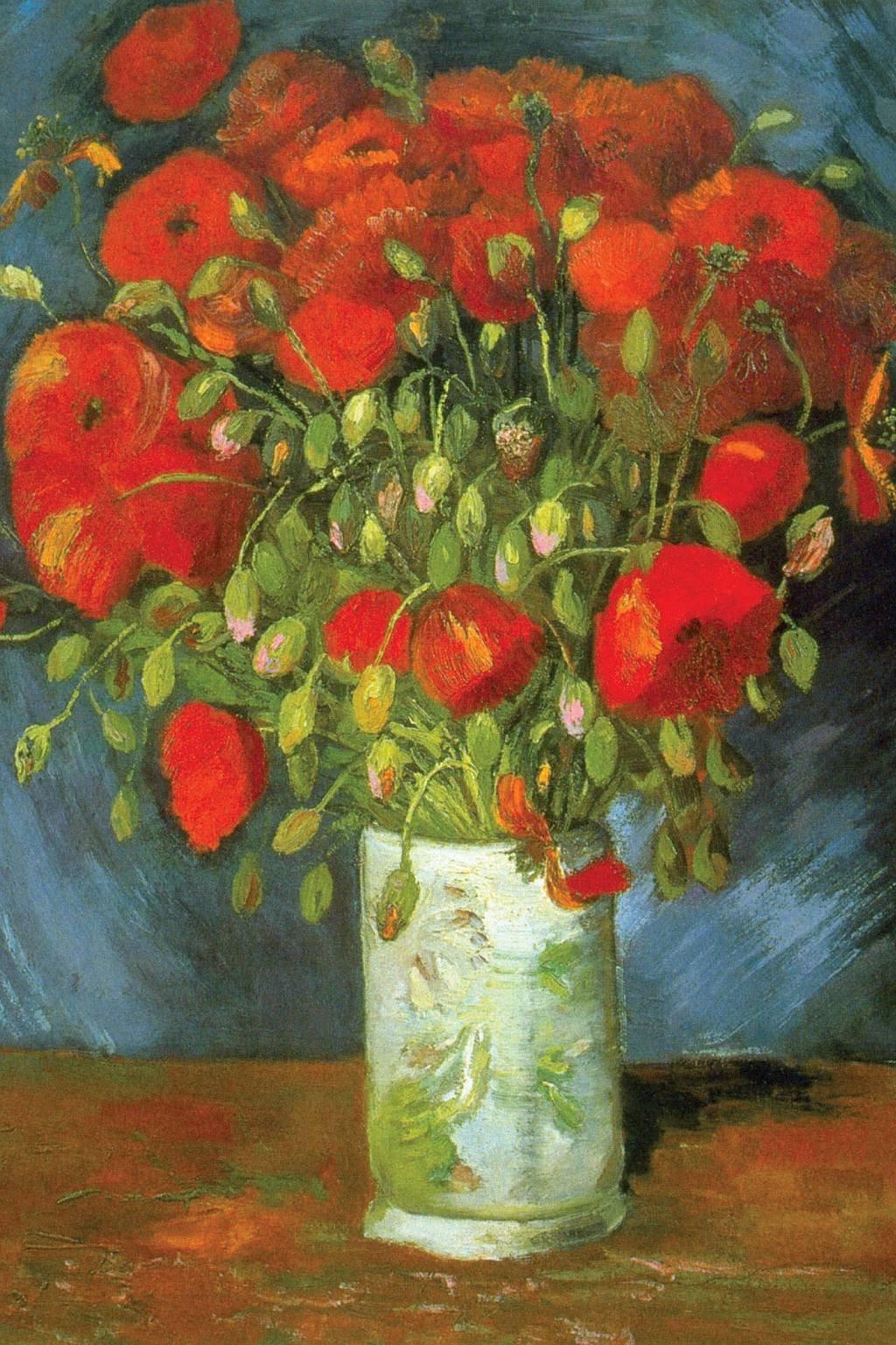 Amapolas rojas. Vincent van Gogh, 1880.