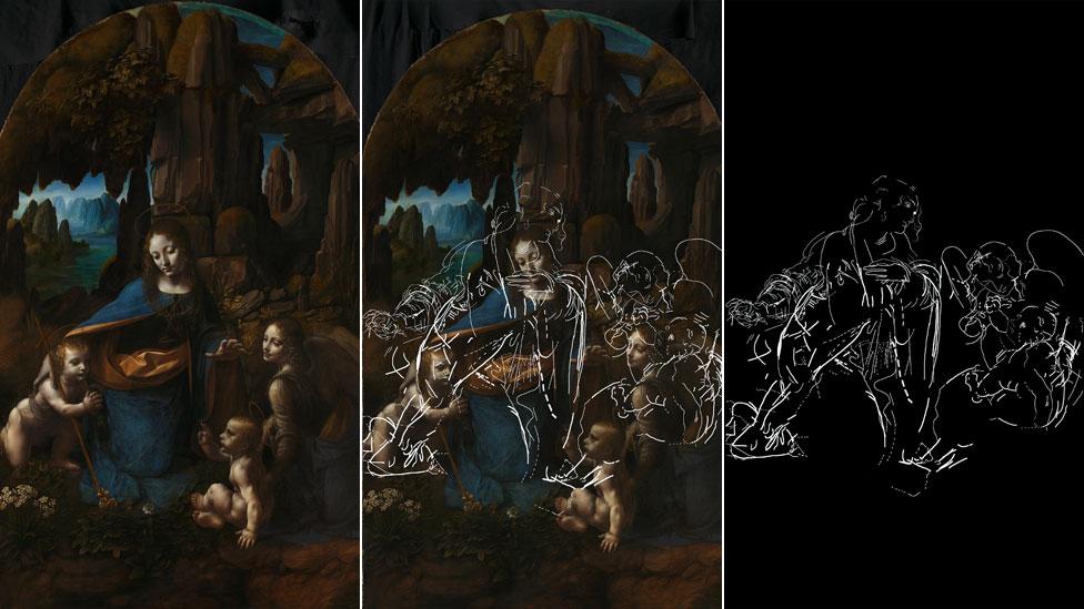 """Los hallazgos en """"La Virgen de las Rocas"""""""