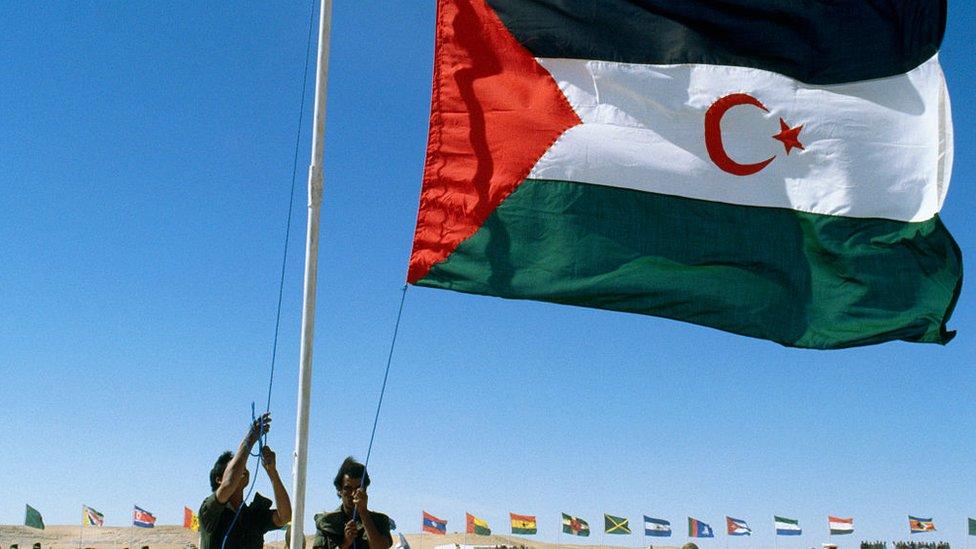 En 1976, el Frente Polisario proclamó la República Árabe Saharaui Democrática.