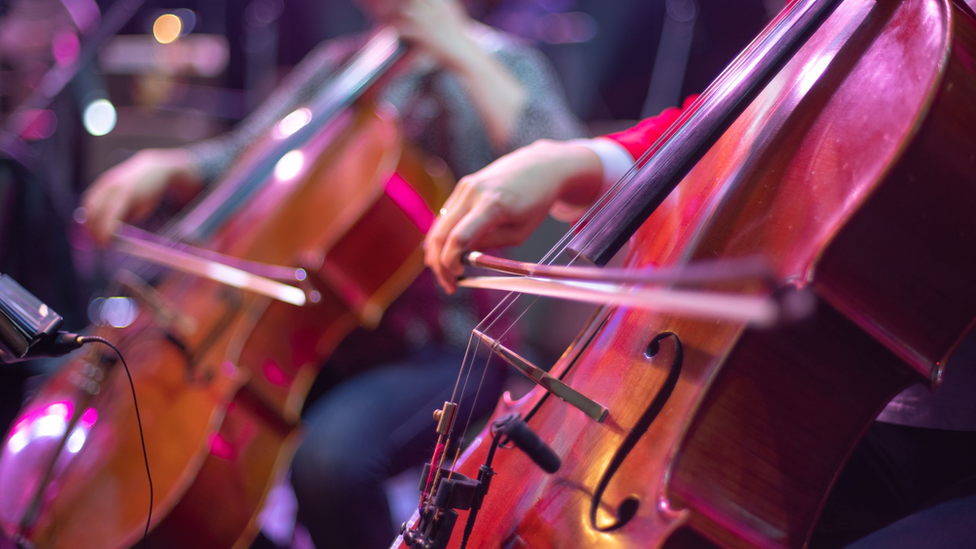 String section in a orchestra