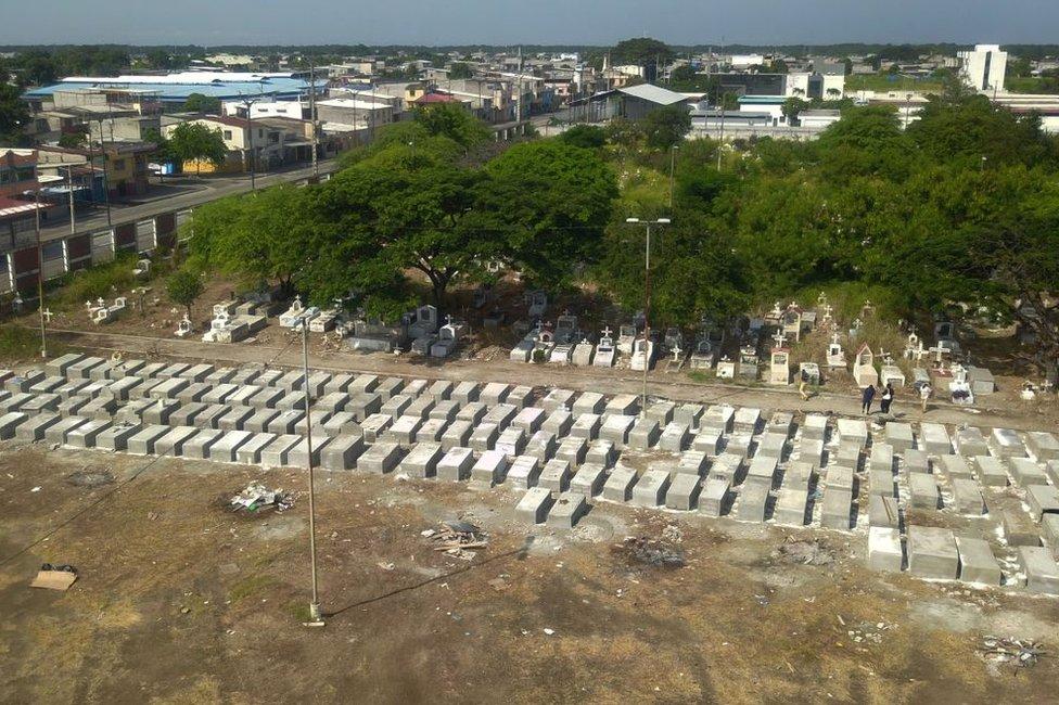 Cementerio Guayaquil Ecuador abril 2020
