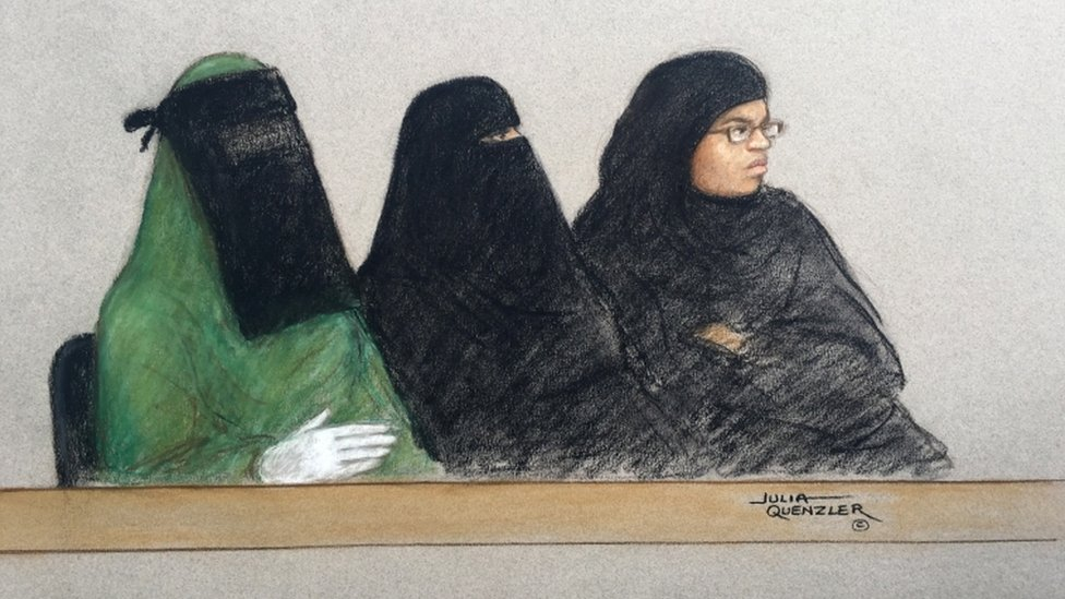 Mina Dich (left), Rizlaine Boular and Khawla Barghouthi, who later admitted failing to inform police